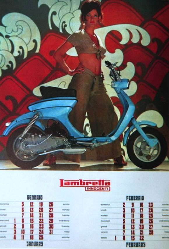 Marisa Mell Lambretta calender january february