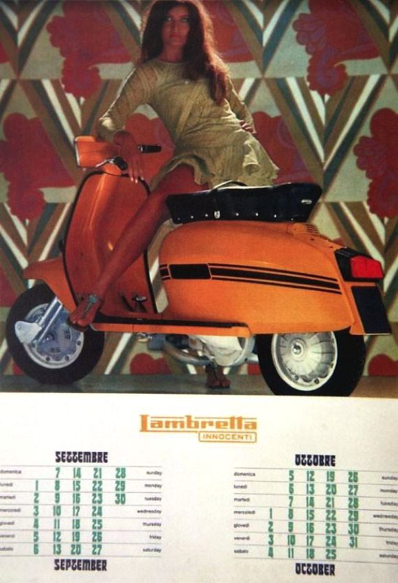 Marisa Mell Lambretta calender october september