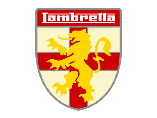 Lambretta logo shield yellow lion