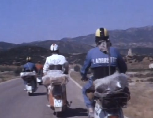 Four Lambretta scooters tour